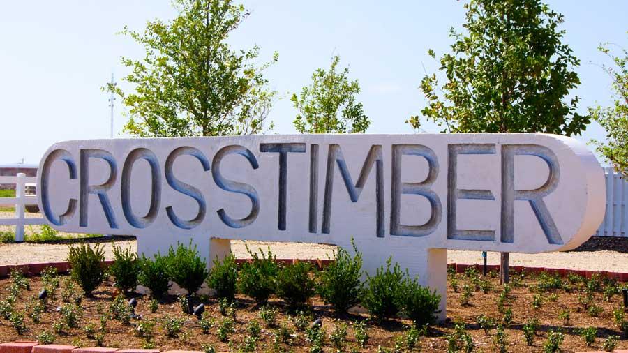RV Park Crosstimber Pleasanton Texas Sign